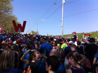 Toward the start line
